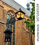 street corner traditional lamp. | Shutterstock . vector #1071035159
