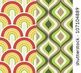 two 1960 retro inspired... | Shutterstock .eps vector #107104889