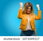 beautiful young woman happy and ...   Shutterstock . vector #1071049217