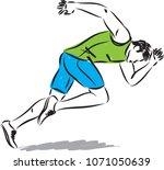man running vector illustration | Shutterstock .eps vector #1071050639