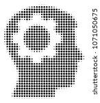 intellect gear halftone raster... | Shutterstock . vector #1071050675