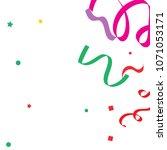 colorful star ribbon confetti.... | Shutterstock .eps vector #1071053171