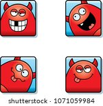 a cartoon icon set of a devil... | Shutterstock .eps vector #1071059984
