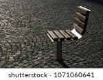 personal bench. single chair... | Shutterstock . vector #1071060641