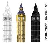 isometric big ben  elizabeth... | Shutterstock .eps vector #1071063254