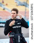 Small photo of April 06, 2018 - Avondale, Arizona, USA: Will Power (12) waits to qualify for the Desert Diamond West Valley Casino Phoenix Grand Prix at ISM Raceway in Avondale, Arizona.