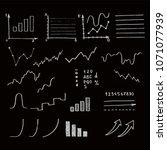 hand drawn business doodle set... | Shutterstock .eps vector #1071077939