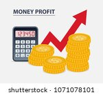 money profit concept  coins... | Shutterstock .eps vector #1071078101