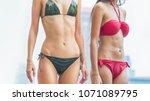 fashion of underwear summer... | Shutterstock . vector #1071089795