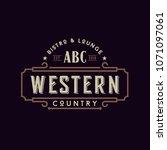 vintage country emblem... | Shutterstock .eps vector #1071097061