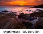 sunset time at larn hin khao.... | Shutterstock . vector #1071099284