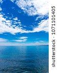 beautiful ocean view with deep... | Shutterstock . vector #1071101405