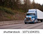 modern blue powerful stylish... | Shutterstock . vector #1071104351