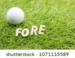 """Small photo of fore may mean """"(look) ahead """".) Other possible origins include the term being derived from the term """"fore- caddie"""", a caddie waiting down range from the golfer to find where the ball lands"""