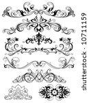 decorative elements | Shutterstock .eps vector #10711159