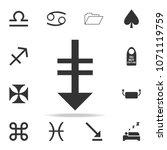 down arrow iconon white...