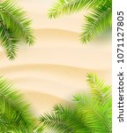 summer beach background with... | Shutterstock .eps vector #1071127805