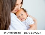 newborn infant baby | Shutterstock . vector #1071129224