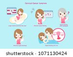uterine ovarian cancer concept... | Shutterstock .eps vector #1071130424