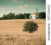 Small Chapel With A Meadow ...