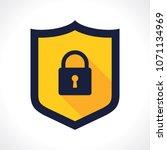 security shield illustration... | Shutterstock .eps vector #1071134969