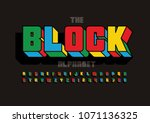 vector of colorful bold font... | Shutterstock .eps vector #1071136325
