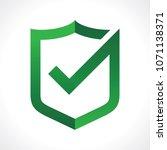 security shield illustration... | Shutterstock .eps vector #1071138371