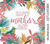 happy mother's day greeting... | Shutterstock .eps vector #1071145385