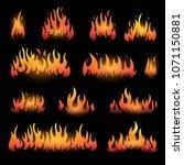 vector graphic flames... | Shutterstock .eps vector #1071150881