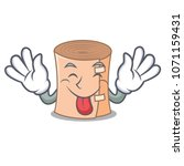 tongue out medical gauze mascot ... | Shutterstock .eps vector #1071159431