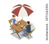 isometric view of couple...   Shutterstock .eps vector #1071161501