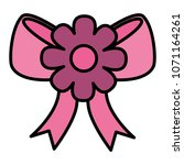 bow ribbon with flower icon | Shutterstock .eps vector #1071164261