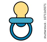 baby pacifier isolated icon   Shutterstock .eps vector #1071165071