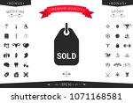 sold tag symbol | Shutterstock .eps vector #1071168581