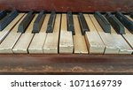 old and dusty  piano key in... | Shutterstock . vector #1071169739