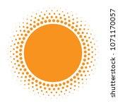 sun icon. halftone orange... | Shutterstock . vector #1071170057