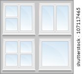 windows with sills  vector... | Shutterstock .eps vector #107117465