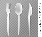 vector disposable fork  knife... | Shutterstock .eps vector #1071181649