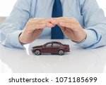 car insurance concept.... | Shutterstock . vector #1071185699