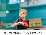 table tennis game  concentrated ... | Shutterstock . vector #1071195854