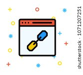 url link web page  | Shutterstock .eps vector #1071207251