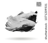 grey  brush stroke and texture. ... | Shutterstock .eps vector #1071209531