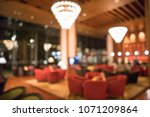 luxury hotel lobby blurred... | Shutterstock . vector #1071209864