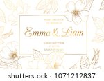 wedding mariage event... | Shutterstock .eps vector #1071212837