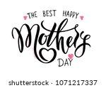 happy mother's day calligraphy...   Shutterstock .eps vector #1071217337