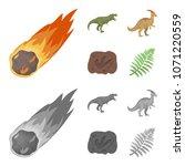 a falling meteorite... | Shutterstock .eps vector #1071220559