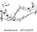 musical vector background | Shutterstock .eps vector #107122259