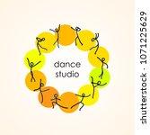 dance studio  dance class.... | Shutterstock . vector #1071225629