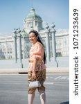 women wear thailand national...   Shutterstock . vector #1071233639