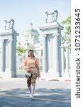 women wear thailand national...   Shutterstock . vector #1071233645